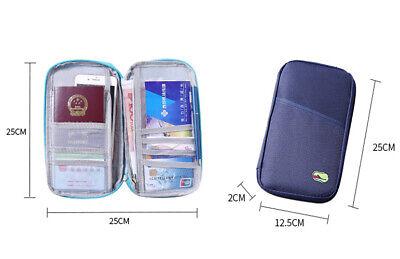 Travel Wallet Family Passport Holder Accessories Document Organizer Bag Case US 9