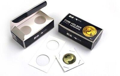 100 X Penny Cent / Dime 20mm 2x2 Cardboard Mylar Coin Holder Flip-US 1&10 cent 4