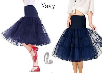 "AU SELLER 26"" Retro 50s Underskirt Rockabilly Bridal Petticoat Dance Tutu da018 9"