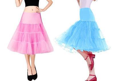 "AU SELLER 26"" Retro 50s Underskirt Rockabilly Bridal Petticoat Dance Tutu da018 4"
