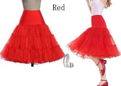 "AU SELLER 26"" Retro 50s Underskirt Rockabilly Bridal Petticoat Dance Tutu da018 12"