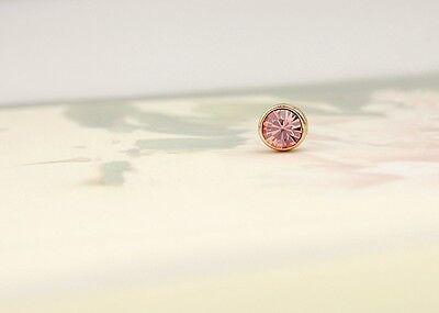 Stunning 18K Rose Gold GF 5MM SWAROVSKI Lab Diamond Stud Earrings Lovely Gift 9