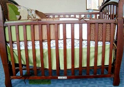 New Baby Boys 9 Pieces Cotton Nursery Bedding Crib Cot Sets-- Monkey Animals