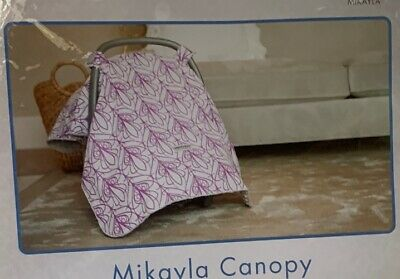 Used ~Mikayla Pattern Baby Carseat Cover Canopy Couture Brand~ Excellent Cond 6