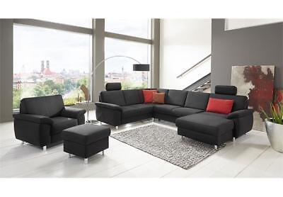 Polstermöbel Bielefeld wohnlandschaft winston ecksofa sofa polstermöbel u form in anthrazit