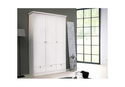 Kleiderschrank Landwood Drehtürenschrank Schrank In Weiß 3 Türig