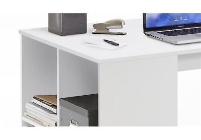 schreibtisch gent computertisch burotisch pc tisch home office in weiss 117x73 3