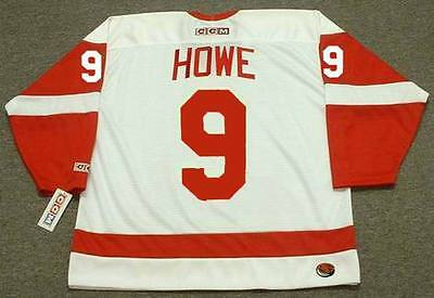 c3aecc58d ... GORDIE HOWE Detroit Red Wings 1960's CCM Throwback Away NHL Hockey  Jersey 4