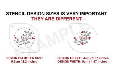 FP SUPERHERO Set of 6pcs Stencils FLASH CAPTAIN AMERICA X MAN INCREDIBLE AVENGER