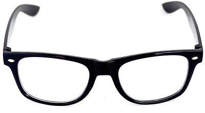Black Frame NHS Geek Fancy Dress Nerd 1950s 50s Specs Glasses Costume Halloween