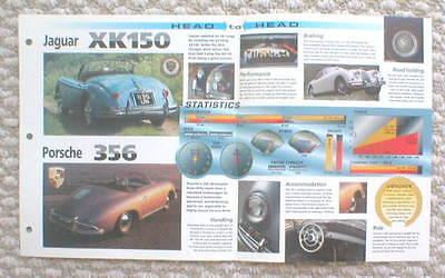 Jaguar XK 150 vs Porsche 356 Road Test Brochure