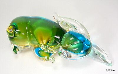 Vintage Murano Sommerso Art Glass Bunny Rabbit Figurine Sculpture 7