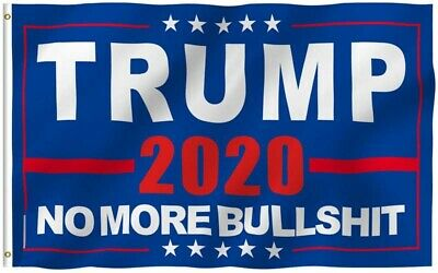 "Donald Trump 2020 Flag No More Bullshit 3X5"" MAGA Flag Banner Flag US Stock! 8"