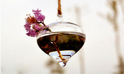 Wholesale Clear Flower Hanging Vase Planter Terrarium Container Glass Home Decor