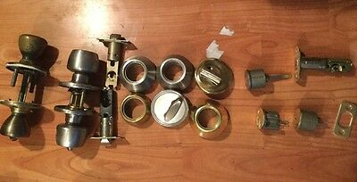 Lot Door Locks 3 Dead Bolt 2 Door Knobs Mixed Lot Selling As Is Door Hardware 7