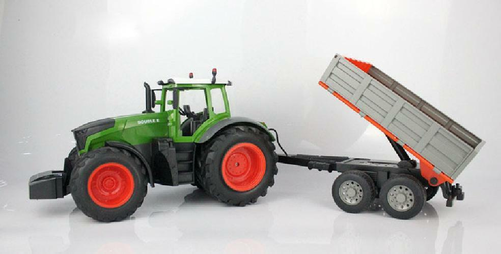 Truck Farm Tractor with RC 2.4G Remote Control Trailer Dump//Rake//Wate New Hot