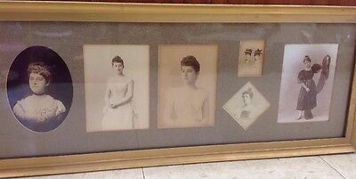 Vintage Antique Original Photos Of One Lady Growing Up Framed 9 Pictures