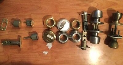 Lot Door Locks 3 Dead Bolt 2 Door Knobs Mixed Lot Selling As Is Door Hardware 5