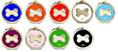 Personalised Engraved Pet ID Collar Tags Cat Dog Various Designs FREE UK DEL 4