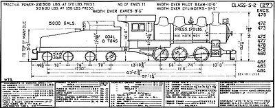 pere marquette steam engine locomotive diagrams - pdf on cd -  railfandepot 2