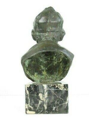 Importante Escultura Busto Niño Niño Pobre Fusión en Bronce en Mármol Xx Sec 5