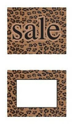 "4 Countertop Sale Sign Holder Copper 7 ¼ x 7 Fits 5 ½ x 7"" + 50 Leopard Signs 3"