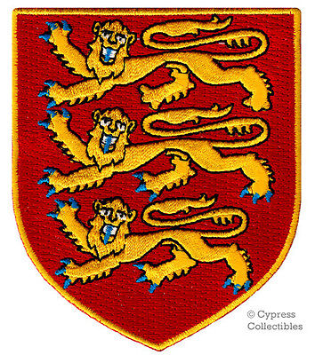 ENGLAND SHIELD FLAG UK GB British London Embroidered Biker Vest Patch PAT-0593