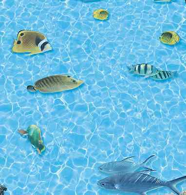 3d Sporadic Fish Water Floor Wallpaper Murals Wall Print