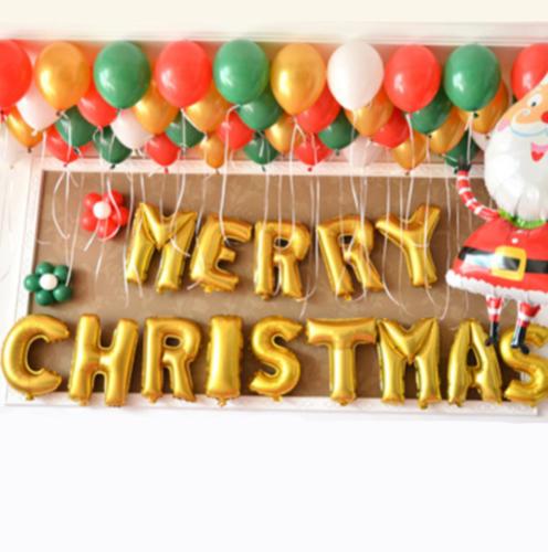 Joyeux Noël Géant Ballon Bannière 1.6M Suspendu Rouge or ou Argent Décoration