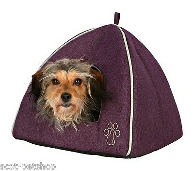 Pyra Cat Cave Small Igloo Dog Bed With Cat Style Paw Motiff 2