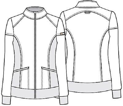 Cherokee Scrubs Zip Front Warm Up Jacket CK303 WIN Wine Free Shipping