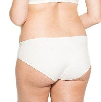 AMORALIA MATERNITY Second Skin Shorty Brief Knicker Ivory Size XS NEW 2