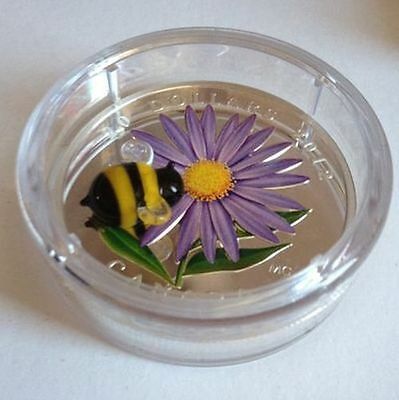 Canada $20 Fine Silver Coin - Aster with Venetian Glass Bumble Bee (2012) 7