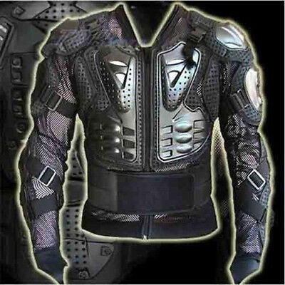 MX Black Racing Body Armour Armor Full Sport Jacket Gear ATV Quad Dirt Pit Bike