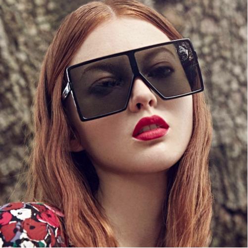 Oversized  Vintage Trend Square Sunglasses Classic Gradient Retro Glasses Women 6