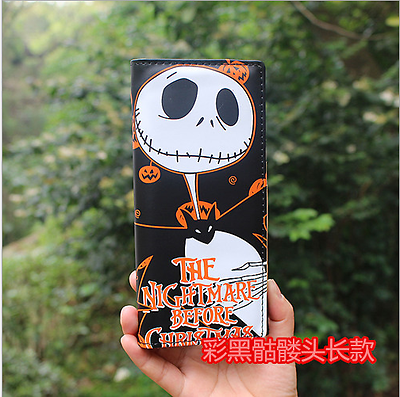 New Wallet Nightmare Before Christmas Jack Skellington  Long Purse Xmas Gift &