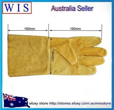 "14""/350mm Yellow Cow Split Leather Welding Gloves,Welding Gauntlets-14116"