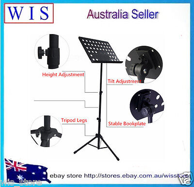 Heavy Duty Orchestral Conductor Sheet Music Stand Holder Tripod Base Foldable 4