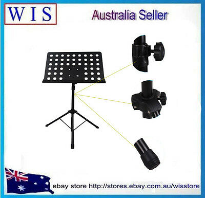 Heavy Duty Orchestral Conductor Sheet Music Stand Holder Tripod Base Foldable 3