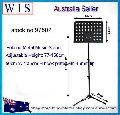 Heavy Duty Orchestral Conductor Sheet Music Stand Holder Tripod Base Foldable 5