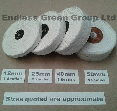 "6/"" Stitched White Cotton Buffing Wheel 150mm x 13mm  Firm Polishing Mop  C150//1"