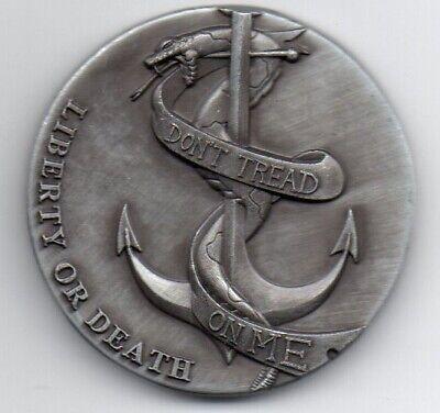 LIBERTY Bell Silver Coin Eagle Anchor Snake 3D Antique Americana Pennsylvania US 5