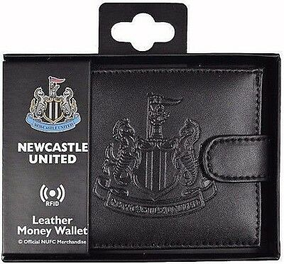 Debossed Crest Rfid Real Leather Football Club Sports Boxed Money Wallet Purse 9