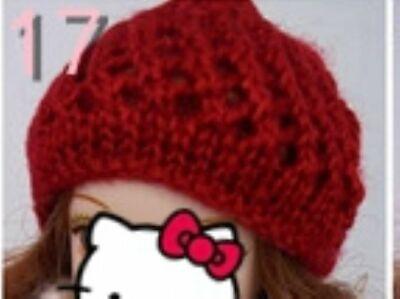 Doll Accessories Warm Winter Headwear Hairwear Woven Knitting Hat For 1/6 Doll 5