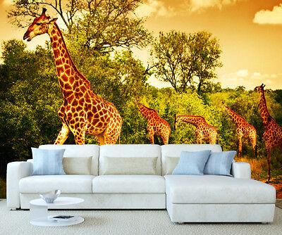 AFRICAN SAFARI ELEPHANT Giraffe Lion Zebra Animals Wall Mural Photo
