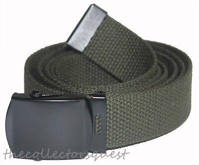 JAEGER CUSTOMS URBAN STRAPS Vintage Black Buckle Belt Canvas Military Web Golf 4