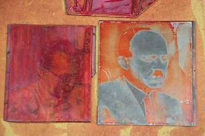 Konvolut Klischees Druckplatte Druckerei Drucker Bleisatz letterpress plates 4