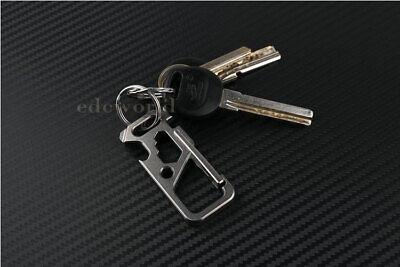 Outdoor Titanium TC4 Ti Mechanic Key Chain Carabiner Opener Multi EDC Tool M-KC1