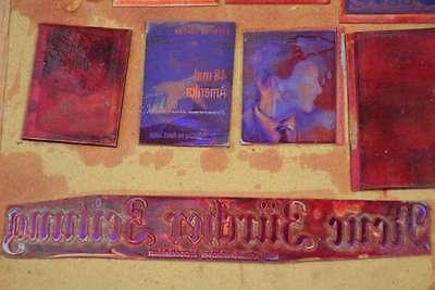 Konvolut Klischees Druckplatten Druckerei Drucker Handsatz letterpress plates 5