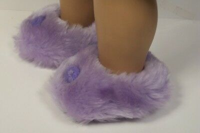 """Debs YELLOW Faux Fur Fuzzy Doll Slippers House-Shoes For 18/"""" American Girl"""